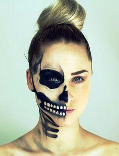 Sugar Skull Makeup Half Face Halloween