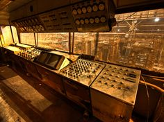 12.) This abandoned steel mill control room from Detroit, Michigan.