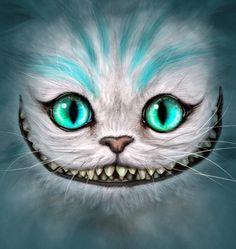 Resultado de imagen para easy drawing of cheshire cat face