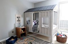 Woodworking Projects Homemade How to build a DIY Restoration Hardware Cabin Bed via Jen Woodhouse.Woodworking Projects Homemade How to build a DIY Restoration Hardware Cabin Bed via Jen Woodhouse