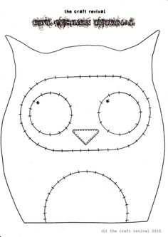 molde - coruja
