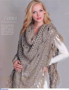 How To Knit: Charming shawl for girls, free crochet patterns