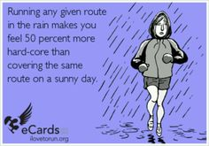"""People hear the word marathon and sometimes think crazy things. Here are some things NOT to say to someone training for a marathon. """"Do you think you will win? Running In The Rain, Keep Running, Running Tips, Trail Running, Fitness Motivation, Running Motivation, Fitness Quotes, Workout Quotes, Fitness Humor"""