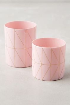 These millennial pink tealight set are so cute!