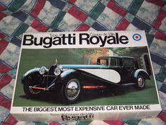 Entex Scale, Type 41 Bugatti Royale Coupe de Ville Plastic Model No. Bugatti Royale, Hobby Kits, Plastic Models, Antique Cars, Villa, Scale, Cutaway, Vintage Cars, Weighing Scale