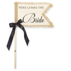 Amazon.com - Mud Pie 'Here Comes The Bride' Wedding Flag - Party Decorations