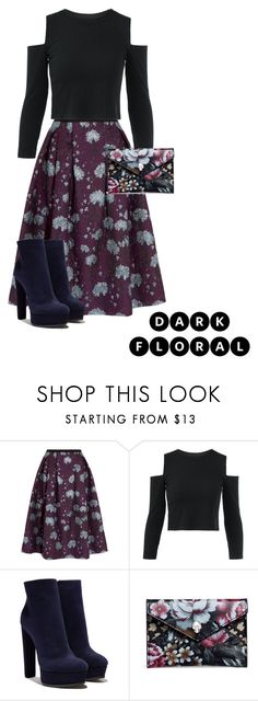 """""""Dark floral"""" by samaramahone1d ❤ liked on Polyvore featuring Erdem, Casadei and Alexander McQueen"""