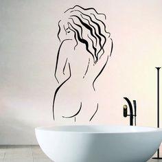 Sexy Nude Woman Wall Sticker Bathroom Waterproof Removable Home Decor Interior Design Art Mural