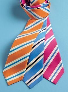 Mogador Silk Stripe Ties