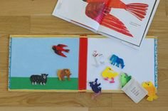 DIY Children's Flannel Story Book - Great way to promote storytelling with preschoolers