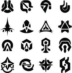 futuristic space logos