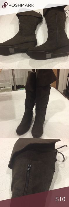 Size 8 Cushion Walk boots NWT Size 8 Cushion Walk over the knee Demi wedge boot new with tags Shoes Over the Knee Boots