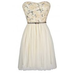 Ivory and Gold Dress $42
