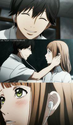 Anime Orange.. Kakeru x Naho <3 ^///^