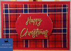 Turquoise Christmas, Tartan Christmas, Christmas Makes, Handmade Christmas, Glitter Cards, Gold Glitter, Referral Cards, Tartan Pattern, Etsy Uk