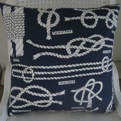 Nautical Knots Handmade Classic Decorative Pillow. $65.00, via Etsy.