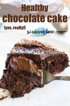 A 30 minute healthy chocolate cake. A 30 minute healthy chocolate cake thats super gooey chocolaty AND as delicious as naughtier chocolate cakes? Try it and see! Healthy Cake Recipes, Healthy Sweets, Healthy Baking, Gourmet Recipes, Dessert Healthy, Avocado Dessert, Easy Recipes, Healthy Cupcakes, Dinner Recipes