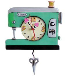Interior Place - Stitch and Sew Clock Art by Allen Designs, 63.76 CAD (http://www.interiorplace.com/stitch-and-sew-clock-art-by-allen-designs/)