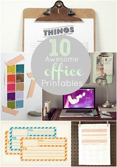 10 Awesome office printables including a weekly to-do list... oh good, I couldn't live without to-do lists!