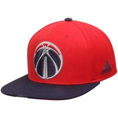Men's Washington Wizards adidas Red/Blue Pride Jersey Stripe Snapback Adjustable Hat