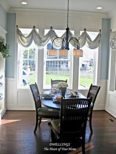 A window treatment where any fabric can be used effectively to liven up a room.  Use yardage from a lively print, lace yardage or a solid color that carries out a color theme.