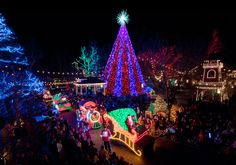 Silver Dollar City glimmers during the Branson's Festival of Lights. (Photo: Branson/Lakes Area CVB)