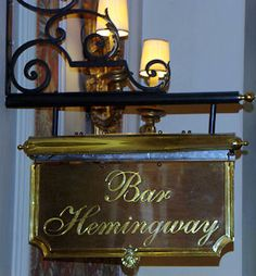 The truly iconic Hemingway Bar, nestled quetly within the walls of the über luxurious Ritz. A family favorite for decades and where we have started and ended many memorable evenings while in Paris.