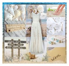 """Beach Wedding"" by helenehrenhofer ❤ liked on Polyvore"