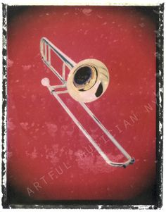 trumbone jazz music  art print  11 x 14  by artfulmusicianNY, $25.00