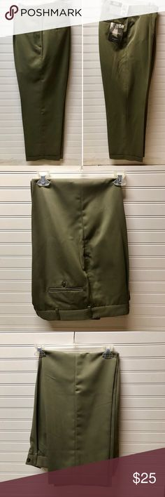 🌹Men's Haggar pleated/cuffed relaxed fit trousers NWT Men's Haggar Black Label Micromattique gab relaxed American fit pleated-cuffed, no wrinkles.  34 W x 29 L. Color: Pumice Brand new never worn, still has tags on. See my closet for matching blazer to create a bundle and receive a discount. 100% Dacron Polyester. Haggar Pants Dress
