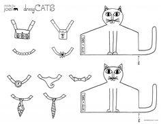 Wykonane przez koty Joel eleganckie Rodzice wydruku arkusza farbowania