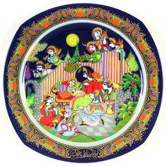 """""""Hark the Herald Angels Sing"""" Bjørn Wiinblad, 1987 Rosenthal Christmas Carol Plate (1983-1994)"""