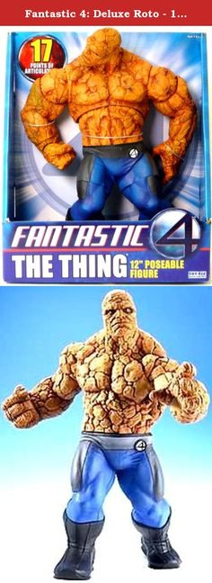 "Fantastic 4: Deluxe Roto - 12"" Thing Action Figure. The Fantastic 4 and their archenemy Dr. Doom are brought to life with these super-sized action figures."