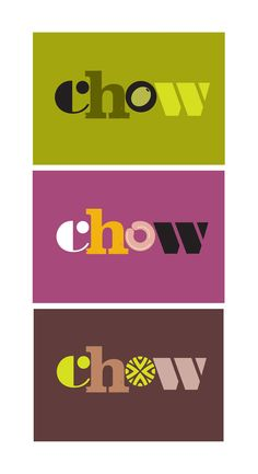 Brand identity and packaging design for new snack brand Chow.
