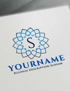 Free Floral Geometric Logo Creator Letter Logo Maker