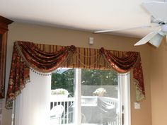 Here You can find 41 Best Window Design By With Cool Curtains at Jcpenney. Valences For Windows, Drapes And Blinds, Cool Curtains, Beautiful Curtains, Cornice Design, Window Design, Cornice Ideas, Victorian Window Treatments, Custom Window Treatments