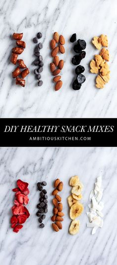 DIY Healthy Snack Mixes to try plus 4 great tips on snack portion control. If you love snacking, you need to read this post!