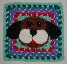 free crochet puppy dog square