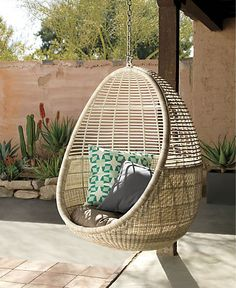 cane hanging chair new zealand barstool covers 79 best wicker images chairs swing sets pod with cushion