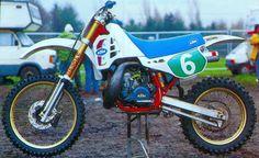 Marcus Hansson's 1987 semi-works KTM250  by T.Blazier