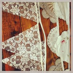 Bunting - Lace and doily bunting available