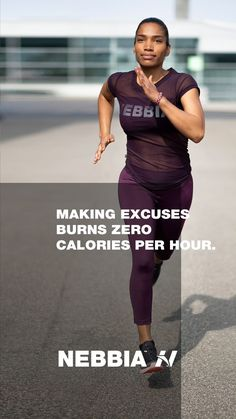 """Making excuses burns zero calories per hour.""  #nebbiafitness #fitnesswear #gymwear #gymclothes #motivation #fitness Mental Health Resources, Making Excuses, Fitness Motivation Quotes, Gym Wear, Workout Wear, Fun Workouts, Burns, Sporty, Zero"