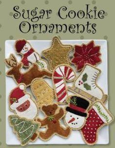 Wool Applique Ornament PATTERN - Sugar Cookies - ATN1822