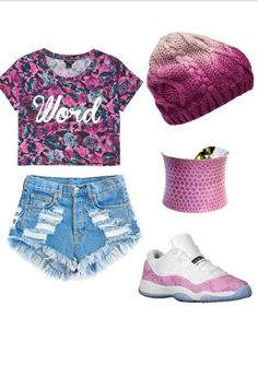 Shoes: high waisted shorts, shorts, beanie, snake skin print, pink, jordans, cute outfits, tumbrl outfits, outfit, shirt, hat - Wheretoget