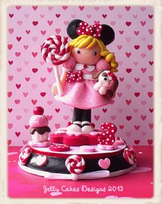 Miss Minnie keepsake cake topper by Jelly Cakes Designs