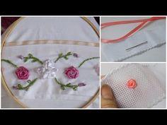 Ideas para el hogar: Màs de 60 moldes bordados con cintas y tutoriales