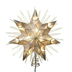 Shop Wayfair for Kurt Adler 7 Point Natural Capiz Star Lighted Tree Topper - Great Deals on all Decor products with the best selection to choose from! Star Christmas Lights, Christmas Tree Star Topper, Christmas Angels, Christmas Trees, Christmas Holiday, Primitive Christmas, Christmas Ornaments, Holiday Fun, Festive