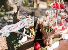 Rustic Snow White Wedding Inspiration - dessert table