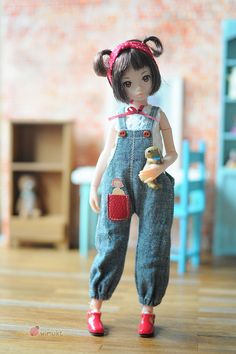 Ruruko Little red pocket set. by wimukt on Etsy