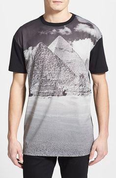 Topman Pyramid Print Mesh Front Crewneck T-Shirt available at #Nordstrom